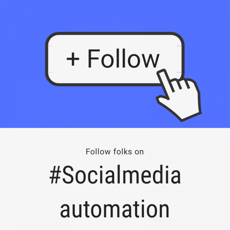 Social media automation screenshot